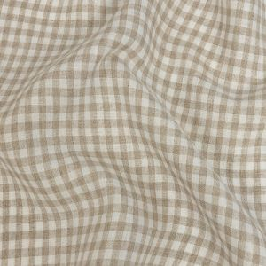 Torres Natural and White Linen Gingham