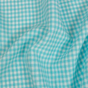 Torres Sky Blue and White Linen Gingham