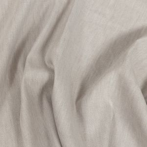 Heathered Light Gray Stretch Linen and Rayon Woven