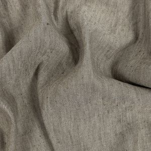 Heathered Mushroom Stretch Linen and Rayon Woven