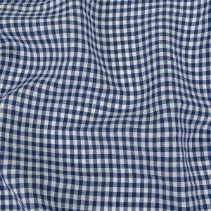 Torres Twilight Blue and White Linen Gingham