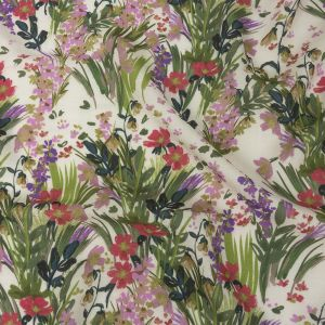 Mood Exclusive Cream Prairie Spring Viscose and Linen Twill