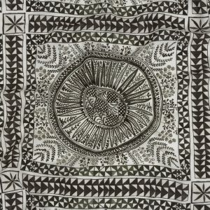 Mood Exclusive Large Heliocentric Lightweight Viscose-Linen Woven