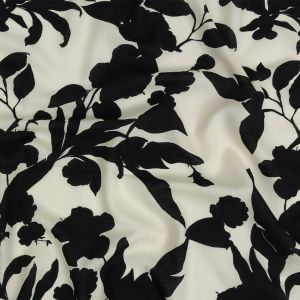 Mood Exclusive Backlit Blossoms Sustainable Viscose and Linen Woven