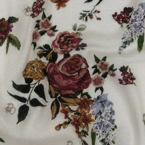 Mood Exclusive White Rosaceous Resolution Spotted Viscose Jacquard
