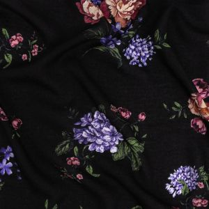 Mood Exclusive Black Noble Nosegay Spotted Viscose Jacquard