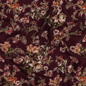 Mood Exclusive Fluent in Floral Lightweight Viscose Jacquard