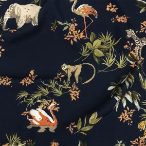 Mood Exclusive Navy Marvelous Menagerie Viscose Twill