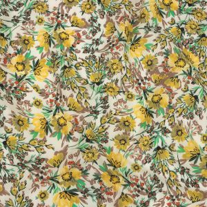 Mood Exclusive Yellow Whimsical Woods Cotton Poplin