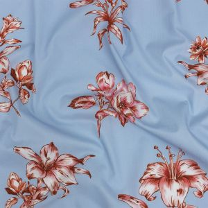 Mood Exclusive Baby Blue Passion and Prosperity Cotton Poplin