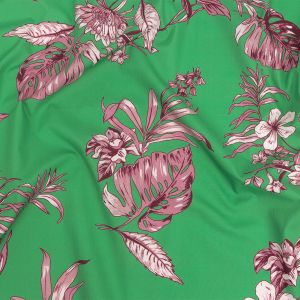 Mood Exclusive Kelly Green Carefree Compliments Cotton Poplin