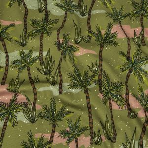 Mood Exclusive Olive Island Oasis Stretch Cotton Sateen