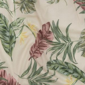 Mood Exclusive Beige Frond Feelings Crinkled Cotton Voile