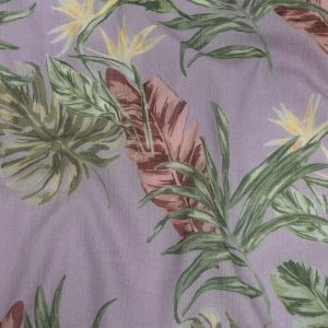 Mood Exclusive Lavender Frond Feelings Crinkled Cotton Voile