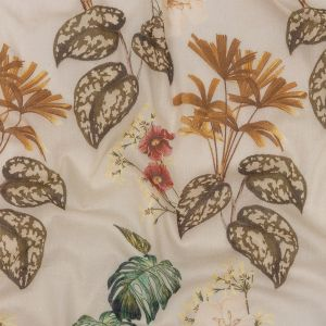 Mood Exclusive Beige Naturalist's Notebook Crinkled Cotton Voile