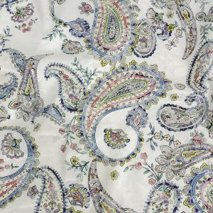 Mood Exclusive Navy Grandiose Gems Printed Stretch Floral Jacquard