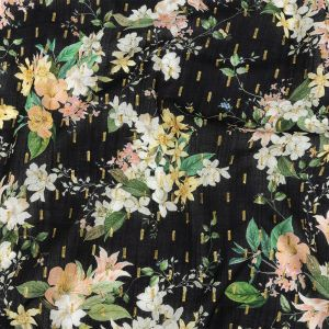 Mood Exclusive Black Bewitching Bliss Metallic Cotton Voile