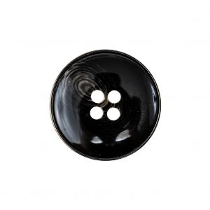 Black and Gray Swirl Gunmetal 4-Hole Set-in Button - 36L/23mm