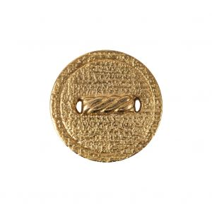 Italian Gold Faux Rope Textured Shank Back Metal Button - 36L/23mm