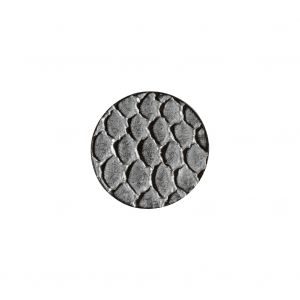 Italian Silver Scales Shank Back Metal Button - 24L/15mm