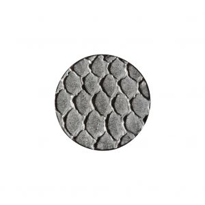 Italian Silver Scales Shank Back Metal Button - 32L/20mm