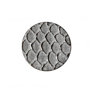 Italian Silver Scales Shank Back Metal Button - 36L/23mm