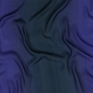 Milly Star White to Moonlit Ocean Ombre Polyester Georgette