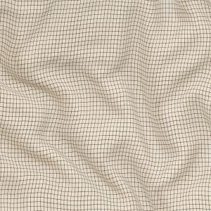 Buttercream, Yellow and Brown Tattersall Check Washed Viscose Twill