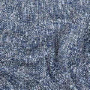 Royal Blue and White Heathered Cotton Tweed