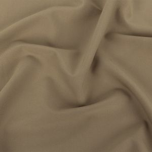 Khaki Stretch Polyester and Cotton Twill