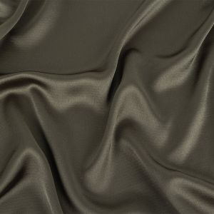 Army Green Satin-Faced Crepe
