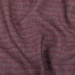 True Red, Yellow and Periwinkle Striated Linen Woven