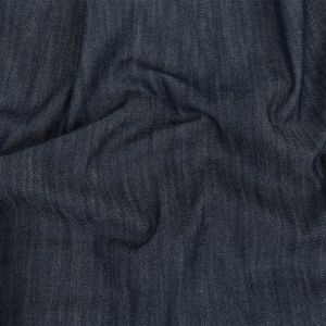 Medium Weight Insignia Blue Cotton Denim Twill with Give