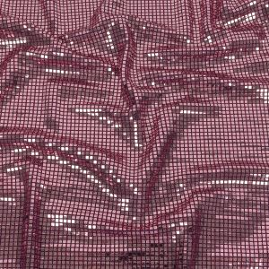 Liquid Sparks Port Royale Squares Stretch Metallic Sequined Knit