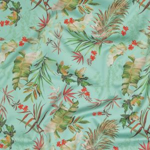 Mood Exclusive Tropical Tumbling Stretch Cotton Sateen