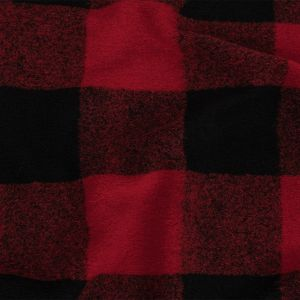 Red and Black Buffalo Check Chunky Wool Knit