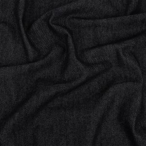 Anthracite Cotton Denim Dobby with Give