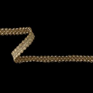 Vintage Gold Pearl Beaded Trimming - 0.625