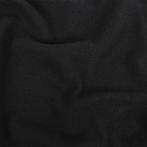 Black Basketwoven Chunky Cotton Coating