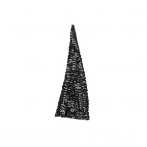 Vintage Black Sequins and Beads Triangle Applique - 4.875 x 1.875