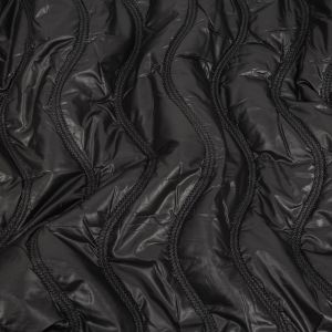 Black Wavy Quilted Coating
