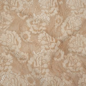 Nude and Whisper White Floral Corded Lace