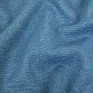 Powder Blue Twill Wool and Cashmere Double Cloth