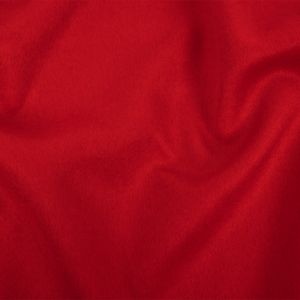 Red Wool and Cashmere Double Cloth