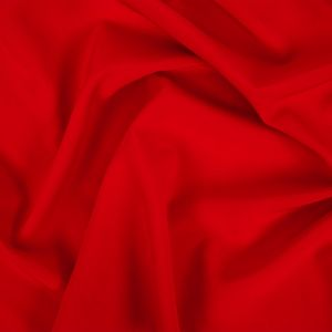 Racing Red Stretch Polyester Crepe