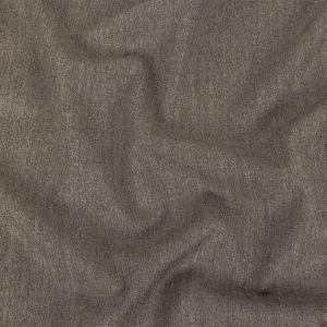 Italian Heathered Greige Super 110 Flannel Wool Suiting