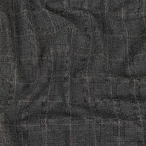 Italian Gray Glen Plaid Wool and Cashmere Suiting
