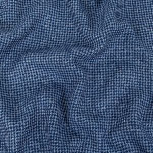 Italian Estate and Baby Blue Houndstooth Linen & Wool Suiting