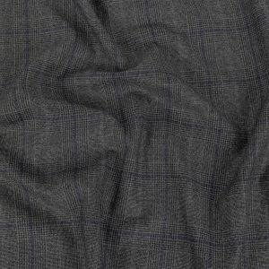 Italian Peat and Salute Glen Plaid Wool Suiting