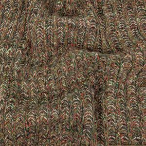 Fluorite Green, Aurora Red and Striped Mustard Chunky Sweater Knit